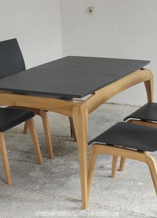 Стол кухонный деревянный. Раскладной обеденный комплект для го...