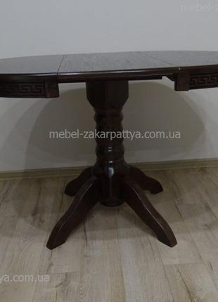 Обеденный стол и стулья. Стол на кухню круглый, овальный раскл...