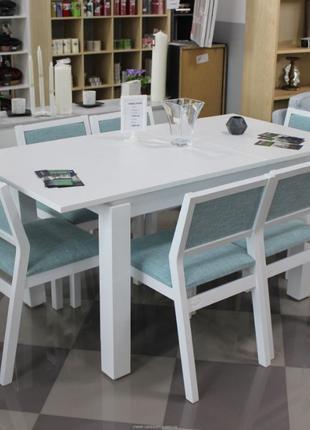 Стол и стулья набор. Кухонный обеденный комплект деревянный ра...