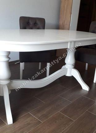 Стол кухонный раскладной овальный. Стол обеденный деревянный б...
