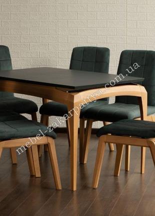 Стол кухонный обеденный. Комплект обеденный стол и стулья на к...