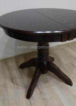 Круглый обеденный стол на кухню. Кухонный раскладной стол овал...