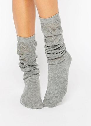 Актульальные серые гетры фирменные, носки asos,