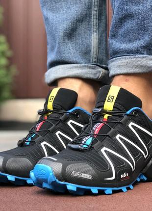 Кросовки Salomon Speedcross 3 чорные с синим