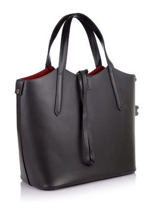 Кожаная сумка сумка из натуральной кожи италия шкіряна сумка с...