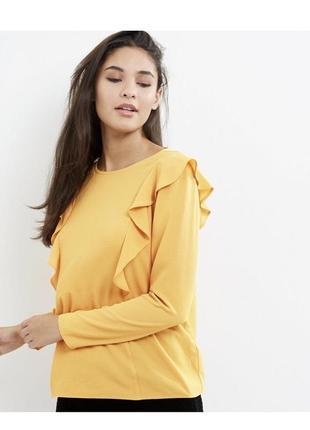 Нереально красивая яркая блуза с оборками, длинный рукав,
