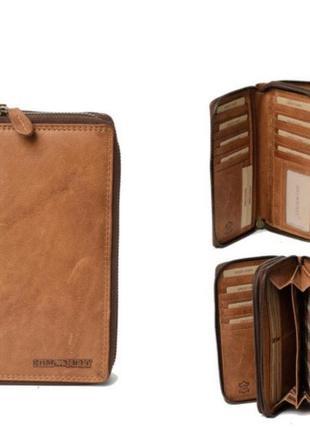 Hillburry кошелёк портмоне барсетка из натуральной кожи hill b...