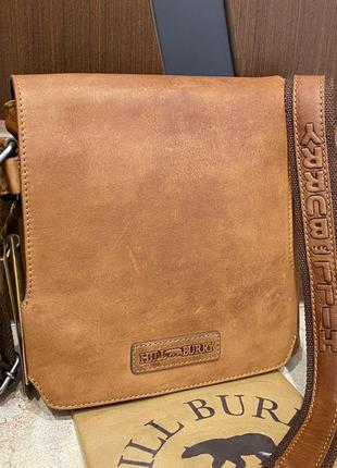 Hillburry кожаная сумка планшет hill burry шкіряна сумка
