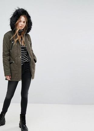 -25% на все! парка тёплая с капюшоном, евро зима куртка удлине...
