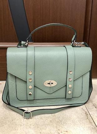 Шкіряна жіноча сумка кожаная сумка портфель сумка из натуральн...