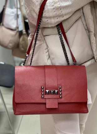 Шкіряна жіноча сумка кожаная сумка сумка из натуральной кожи и...