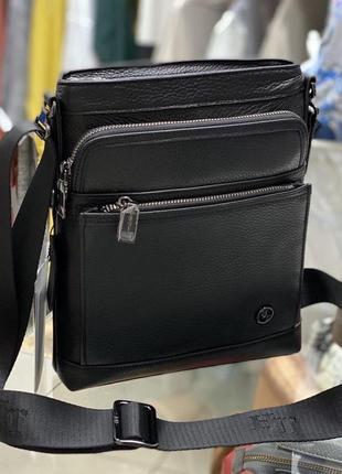 Шкіряна чоловіча сумка кожаная сумка сумка из натуральной кожи...