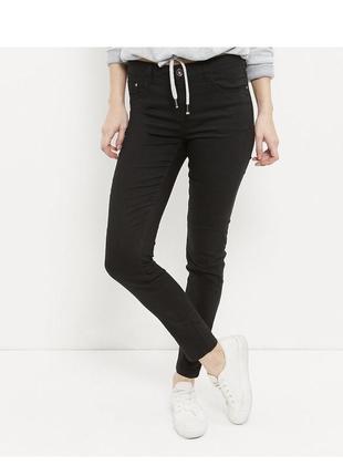 Чёрные джинсы скинни, зауженные штаны из эластичного денима, a...