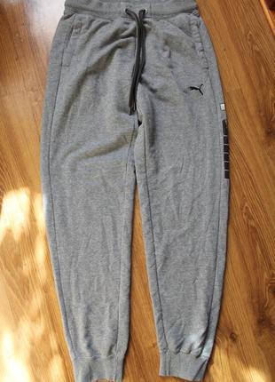 Спортивные штаны puma теплые байковые осень-зима джоггеры