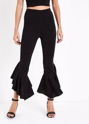 -35% на все! актуальные нарядные брюки с люрексом и оборками, ...