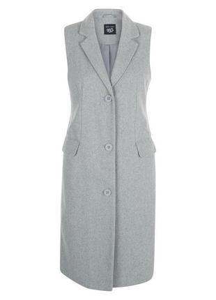 Трендовое пальто без рукавов, длинная шерстяная жилетка, тренд...