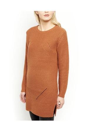Актуальное платье туника вязаное тёплое, свитер длинный