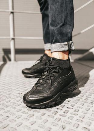Мужские зимние кроссовки ❄️nike air max 95 sneakerboot black❄️