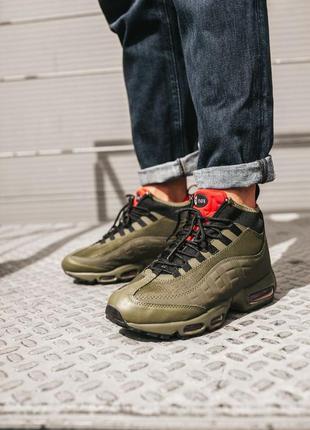 Мужские зимние кроссовки ❄️nike air max 95 sneakerboot haki❄️