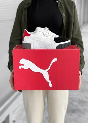 Кроссовки Puma Cali White Red Black