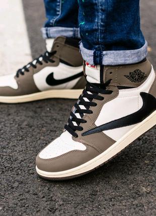 Мужские кожаные кроссовки nike air jordan