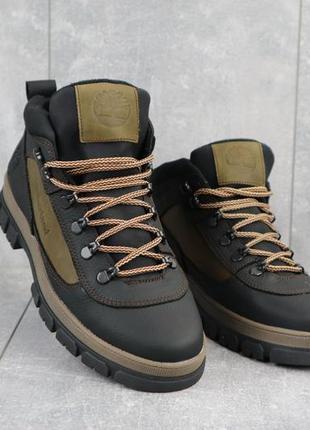 Мужские зимние ботинки из натуральной кожи crossav 301