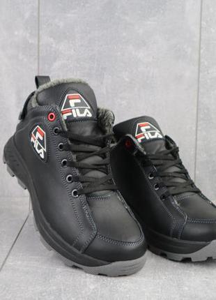 Мужские зимние ботинки из натуральной кожи lions f3