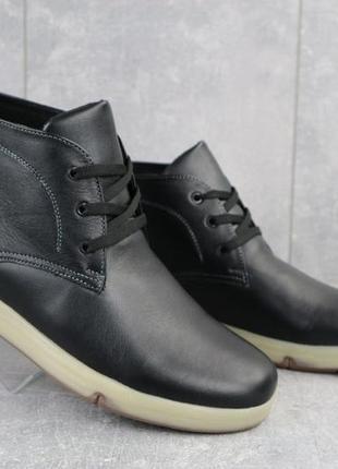 Мужские зимние ботинки из натуральной кожи yuves obr