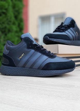 Зимние adidas iniki чёрные