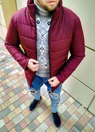 Мужская зимняя куртка без капюшона