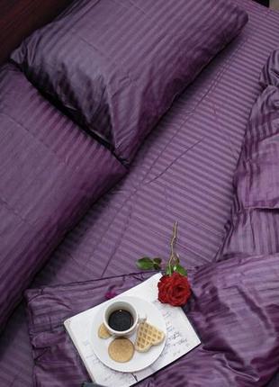 Элитное постельное белье из страйп-сатина
