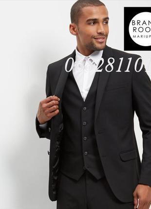 Стильный мужской пиджак приталенный, жакет классический костюмный