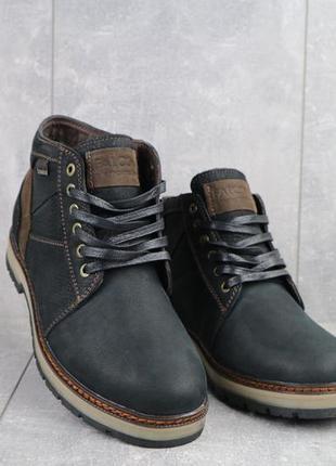 Мужские зимние ботинки из натуральной кожи falcon 6220