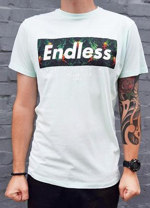 Мужская футболка мятного цвета с принтом primark