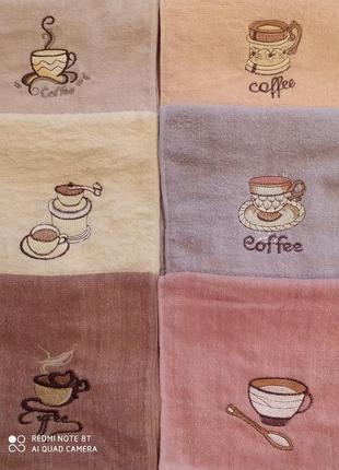 Набор махровых полотенец кофе 25 х 50 (5 штук)