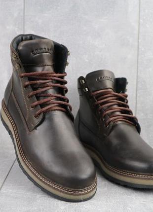 Мужские зимние ботинки из натуральной кожи riccone 550