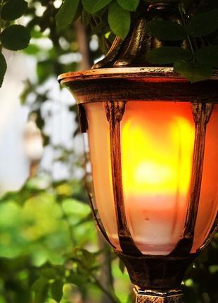 Лампочка живое пламя огонь, лампа Led flame Bulb E27 220 V
