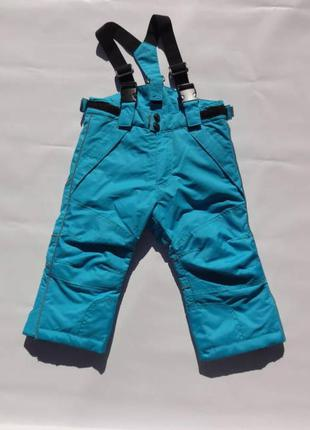 Lindex. полукомбинезон зимний, лыжные штаны. 92 размер.