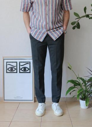 Стильные укорочённые slim fit брюки george