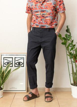 Прекрасные брюки чинос темно-синего цвета от бренда h&m