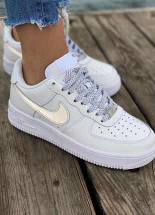 Кроссовки Nike Air Force White Reflective