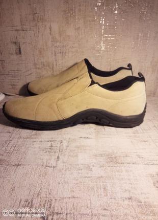 Туфли - слипоны - кроссовки. Англия, замша.47 размер