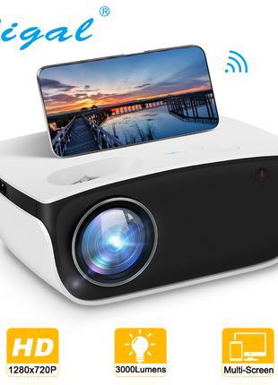 HD Проектор Rigal RD850 для домашнего кинотеатра и игр Wi-Fi верс
