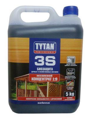Биозащита для древесины Tytan 3S концентрат 1:9 (5 кг)