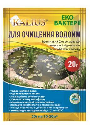 Биопрепарат Kalius для очистки водоемов и бассейнов (20 грамм)