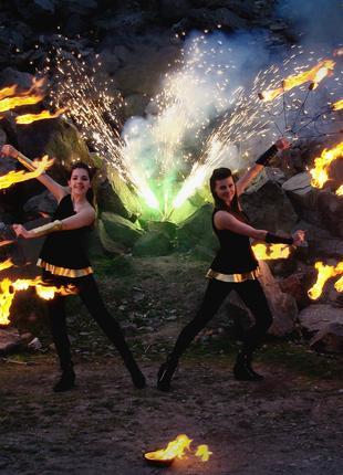 Фаэршоу,огненное шоу,праздничный салют