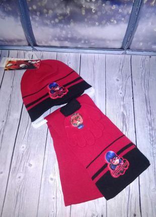 Комплект шапка+шарф+перчатки