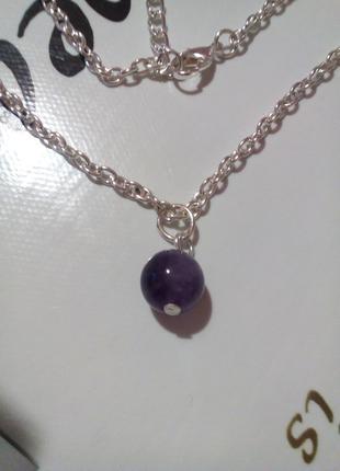 Новый кулон аметист натуральный камень минерал подарок девушке