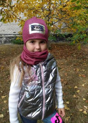 Комплект шапка+хомут детская
