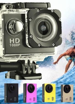 Экшн камера A7 FullHD + аквабокс Полный компект